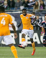 Houston Dynamo midfielder Warren Creavalle (5).  The New England Revolution played to a 1-1 draw against the Houston Dynamo during a Major League Soccer (MLS) match at Gillette Stadium in Foxborough, MA on September 28, 2013.
