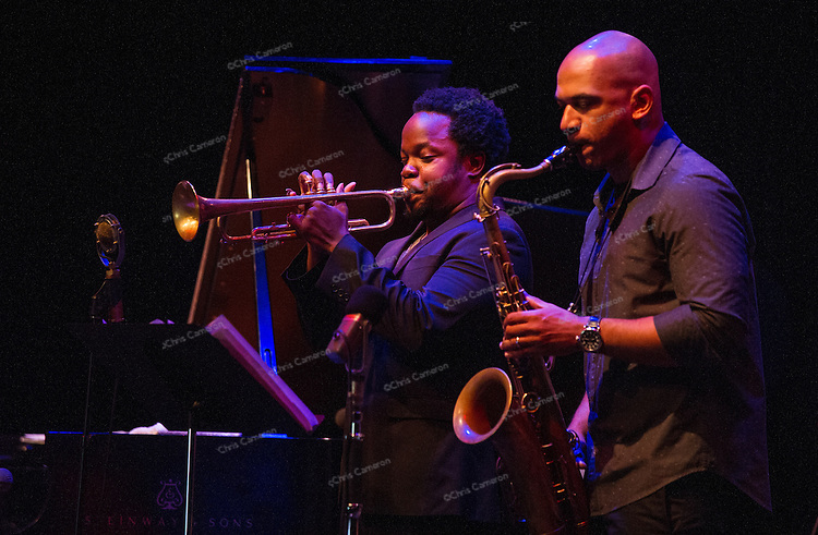 Ambrose Akinmusire and Walter Smith III, play Performance Works with his Quintet, June 27, 2014 TD Vancouver International Jazz Festival
