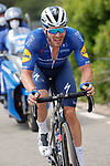 Florian Senechal (FRA) Deceuninck-QuickStep drives the peloton during Stage 6 of La Vuelta d'Espana 2021, running 158.3km from Requena to Alto de la Montaña Cullera, Spain. 19th August 2021.    <br /> Picture: Luis Angel Gomez/Photogomezsport   Cyclefile<br /> <br /> All photos usage must carry mandatory copyright credit (© Cyclefile   Luis Angel Gomez/Photogomezsport)