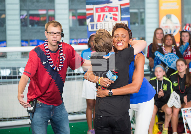New York, New York - July 10, 2015:  The USWNT appear on Good Morning America after winning the FIFA Women's World Cup.