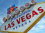 Welcome to Fabulous Las Vegas Nevada sign at the beginning of the strip.