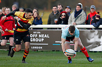 Ben Ransom of Blackheath Rugby collects the ball during the English National League match between Richmond and Blackheath  at Richmond Athletic Ground, Richmond, United Kingdom on 4 January 2020. Photo by Carlton Myrie.