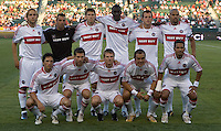 Chicago Fire starting XI. Chivas USA defeated the Chicago Fire 2-0 at the Home Depot Center stadium in Carson, California on Thursday, June 19, 2008.