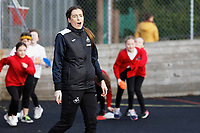 Pictured: Katy Hosford. Wednesday 29 January 2020<br /> Re: Swansea City AFC Community Trust visit Llangyfelach primary School in Swansea, Wales, UK.
