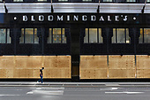 New York New York<br /> June 7, 2020<br /> <br /> After several nights of looting, nearly all ground level windows on the upper Eastside of Manhattan are covered with plywood. Many of the shops had already been looted others are boarded for protection. <br /> <br /> Bloomingdales is entirely covered and was reported to have been looted.