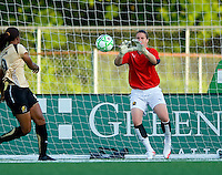 FC Gold Pride goalkeeper Nicole Barnhart (1) makes a save against St. Louis Athletica during a WPS match at Korte Stadium, in St. Louis, MO, May 9 2009.  St. Louis Athletica won the match 1-0.