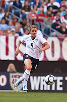 22 MAY 2010:  USA's Heather O'Reilly #9 during the International Friendly soccer match between Germany WNT vs USA WNT at Cleveland Browns Stadium in Cleveland, Ohio on May 22, 2010.