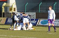 SWI Harelbeke - BS Poperinge ..vreugde na de 0-2 van Poperinge..foto VDB / BART VANDENBROUCKE