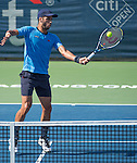 Feliciano Lopez (ESP) defeats Lleyton Hewitt (AUS) 4-6, 7-5, 6-3 at the Citi Open in Washington, DC,  on August 5, 2015.