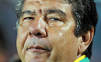 South Africa manager Joel Santana. Brazil defeated South Africa 1-0 during the semi-finals of the FIFA Confederations Cup at Ellis Park Stadium in Johannesburg, South Africa on June 25, 2009..