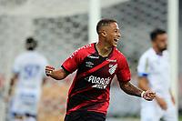 9th June 2021; Arena da Baixada, Curitiba, Brazil; Copa do Brazil, Athletico Paranaense versus Avai; Vitinho of Athletico Paranaense celebrates his goal in the 1st minute 1-0