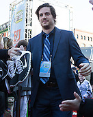 Shane Luke (PC - 20) - The teams walked the red carpet through the Fan Fest outside TD Garden prior to the Frozen Four final on Saturday, April 11, 2015, in Boston, Massachusetts.