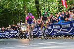 Lampre-Merida and Team Europcar riders, Vattenfall Cyclassics, Waseberg, Hamburg, Germany, 24 August 2014, Photo by Thomas van Bracht