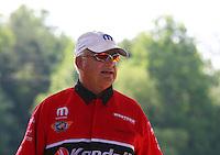 May 17, 2015; Commerce, GA, USA; NHRA pro stock driver V. Gaines during the Southern Nationals at Atlanta Dragway. Mandatory Credit: Mark J. Rebilas-USA TODAY Sports