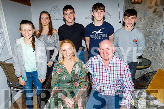 Enjoying the evening out in Bella Bia on Saturday.<br /> Seated l to r: Lisa and Donnie Geaney.<br /> Back l to r: Ciara Geaney, Natalie Garcia, Dan, Conor and Jack Geaney.