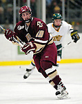 """19 January 2007: Boston College forward Brock Bradford from Burnaby, BC, in action during a Hockey East matchup against the University of Vermont at Gutterson Fieldhouse in Burlington, Vermont. The UVM Catamounts defeated the BC Eagles 3-2 before a record setting 50th consecutive sellout at """"the Gut""""...Mandatory Photo Credit: Ed Wolfstein Photo."""