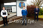 Lauren Murphy, a Causeway Comprehensive school student, winner of the P-EXCO, Power of Sport category in a recent competition. L to r: Annie Murphy (PE Teacher), Lauren Murphy and Cathal Fitzgerald (Principal).