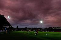 Brooding skies reflect a poor performance by Barnet - Barnet vs Southampton - Pre-Season Football Friendly Match at Underhill Stadium, Barnet, London - 27/07/10 - MANDATORY CREDIT: Anne-Marie Sanderson/TGSPHOTO - Self billing applies where appropriate - 0845 094 6026 - contact@tgsphoto.co.uk - NO UNPAID USE..