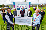 The Lynch family from Tralee made a presentation to University Hospital Kerry staff this morning of €1,800 to UHK.<br /> Front: Gerry Lynch presenting the €1800 cheque to Fergal Grimes (General Manager UHK).<br /> Back l to r: Sharon, John and Michael and Jennifer Lynch and Margaret O'Callaghan.