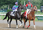 16 August 2008: Eventual winner Grand Couturier and jockey Alan Garcia during the post parade before for the Grade 1 Sword Dancer Invitational at Saratoga Race Course in Saratoga Springs, New York.
