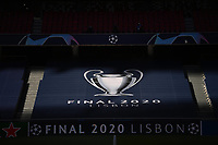 23rd August 2020, Estádio da Luz, Lison, Portugal; UEFA Champions League final, Paris St Germain versus Bayern Munich; A banner with the UEFA Champions League Final 2020 logo is seen in the stands