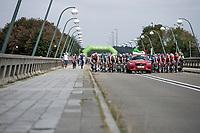 "stage start on top of the ""lac de l'eau d'heure""<br /> <br /> Binckbank Tour 2018 (UCI World Tour)<br /> Stage 7: Lac de l'eau d'heure (BE) - Geraardsbergen (BE) 212.7km"