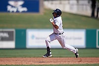 Detroit Tigers Riley Greene (13) running the bases during a Florida Instructional League intrasquad game on October 17, 2020 at Joker Marchant Stadium in Lakeland, Florida.  (Mike Janes/Four Seam Images)