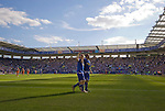 Leicester City 1 Queens Park Rangers 1, 15/09/2007. Walkers Stadium, Championship. Leicester City (blue) taking on Queen's Park Rangers in a Coca-Cola Championship match at the Walkers Stadium, Leicester. It was Gary Megson's first game in charge of the home team since his appointment two days earlier. The match ended one-all, QPR equalising in the last minute through Mikele Leigertwood after the Foxes had score through an Iain Hume penalty. Photo shows  City's Iain Hume celebrating after scoring his goal. Photo by Colin McPherson.