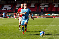12th September 2020; Ashton Gate Stadium, Bristol, England; English Football League Championship Football, Bristol City versus Coventry City; Callum O'Hare of Coventry City chases the ball to retrieve it just before it goes out of play