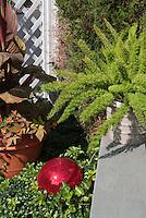 Garden Gazing Balls Stock Images
