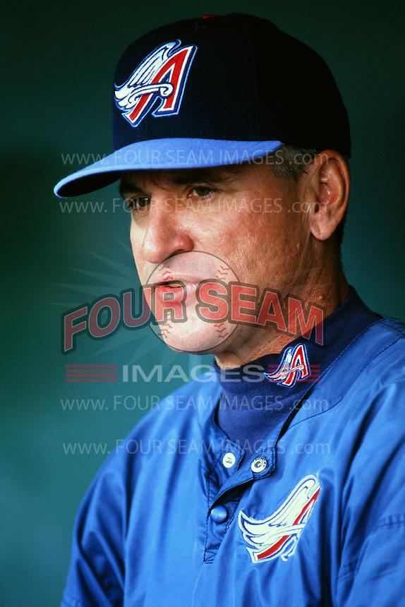 Anaheim Angels coach Joe Maddon before a game circa 1999 at Angel Stadium in Anaheim, California. (Larry Goren/Four Seam Images)