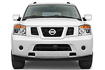 Car photography straight front view of a 2010 Nissan Armada SE 5 Door SUV