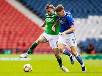 22nd May 2021; Hampden Park, Glasgow, Scotland; Scottish Cup Football Final, St Johnstone versus Hibernian; Paul McGinn of Hibernian  and Jason Kerr of St Johnstone compete for possession of the ball
