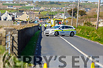 Scene of the road traffic accident in Ballyheigue on Tuesday