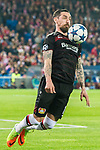 Roberto Hilbert of Bayer 04 Leverkusen in action during their 2016-17 UEFA Champions League Round of 16 second leg match between Atletico de Madrid and Bayer 04 Leverkusen at the Estadio Vicente Calderon on 15 March 2017 in Madrid, Spain. Photo by Diego Gonzalez Souto / Power Sport Images