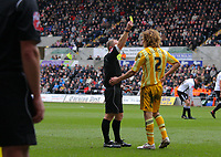 ATTENTION SPORTS PICTURE DESK<br /> Pictured: Fabricio Coloccini of Newcastle United in action<br /> Re: Coca Cola Championship, Swansea City Football Club v Newcastle United at the Liberty Stadium, Swansea, south Wales. 13 February 2010
