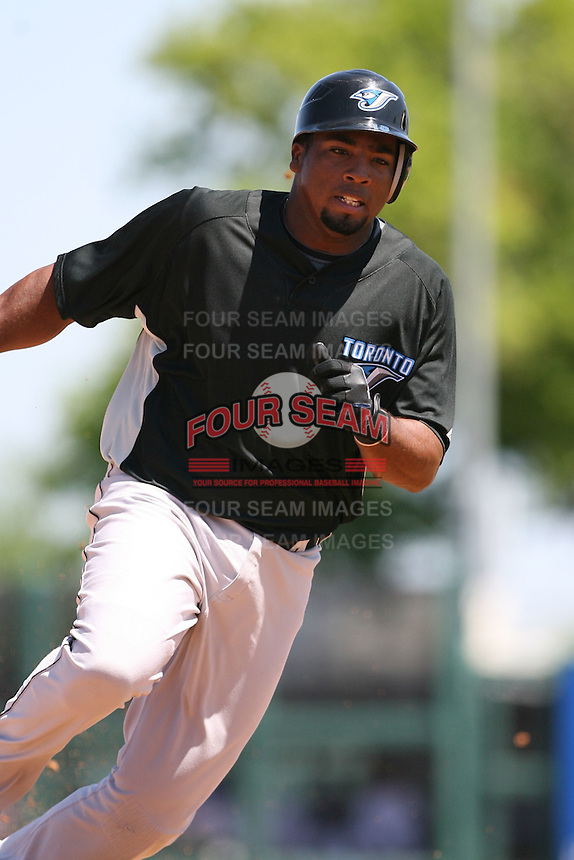 March 21st 2008:  Hector Luna of the Toronto Blue Jays during Spring Training at Joker Marchant Stadium in Lakeland, FL.  Photo by:  Mike Janes/Four Seam Images