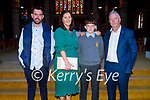 Gearoid White, former Moyderwell NS student attending his Confirmation in St John's Church Tralee on Sunday. L to r: Anthony McDonnell, Karen, Geariod and Patrick White