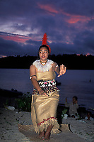 Tongan dancer, Vava'u, Tonga, (South Pacific Ocean)