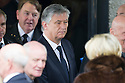 Celtic Chief executive, Peter Lawwell leaves Mortonhall Crematorium after the funeral service for Sandy Jardine.