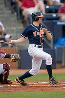 Danny Hultzen #23 of the Virginia Cavaliers follows through on his swing versus the Florida State Seminoles at Durham Bulls Athletic Park May 24, 2009 in Durham, North Carolina. The Virginia Cavaliers defeated the Florida State Seminoles 6-3 to win the 2009 ACC Baseball Championship.  (Photo by Brian Westerholt / Four Seam Images)