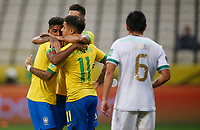 9th October 2020; Arena Corinthians, Sao Paulo, Sao Paulo, Brazil; FIFA World Cup Football Qatar 2022 qualifiers; Brazil versus Bolivia; Philippe Coutinho of Brazil celebrates his goal in the 73th minute 5-0