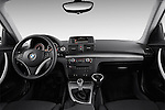 Straight dashboard view of a 2007 - 2011 BMW 1-Series 123d 3 Door Hatchback 2WD.