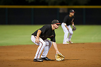 AZL Diamondbacks third baseman Buddy Kennedy (43) on defense against the AZL Padres 2 on August 29, 2017 at Salt River Fields at Talking Stick in Scottsdale, Arizona. AZL Diamondbacks defeated the AZL Padres 2 4-3. (Zachary Lucy/Four Seam Images)