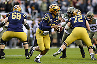 Philadelphia, PA - December 14, 2019:    Navy Midshipmen quarterback Malcolm Perry (10) looks to throw the ball during the 120th game between Army vs Navy at Lincoln Financial Field in Philadelphia, PA. (Photo by Elliott Brown/Media Images International)