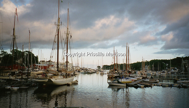 Harbor of Camden, Maine at sunset.   This image was published in the Philadelphia Inquirer in October, 1998.
