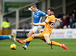 Motherwell v St Johnstone…18.03.17     SPFL    Fir Park<br />Steven MacLean is tackled by Craig Clay<br />Picture by Graeme Hart.<br />Copyright Perthshire Picture Agency<br />Tel: 01738 623350  Mobile: 07990 594431