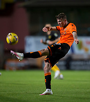 2nd October 2020; Tannadice Park, Dundee, Scotland; Scottish Premiership Football, Dundee United versus Livingston; Jamie Robson of Dundee United clears the ball