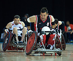 MISSISSAUGA, ON, AUGUST 14, 2015. Gold Medal Game in Wheelchair Rugby - CAN 57 vs USA 54 - Mike Whitehead.<br /> Photo: Dan Galbraith/Canadian Paralympic Committee