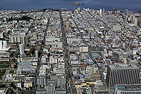 aerial photograph Van Ness Avenue San Francisco, California